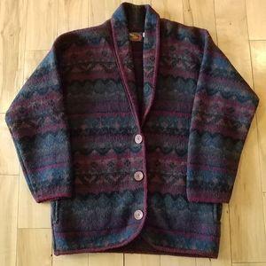 ALPS 100% Wool sweater coat